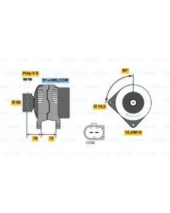 E46 / E60 / E83 X3 Alternator 14V 150Amp (Bosch) 1999-2004
