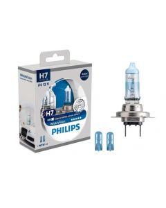 Philips H7 White Vision Globe Set - Intense white Xenon effect
