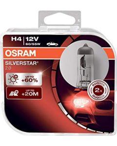 Osram H4 Silverstar Globe Set