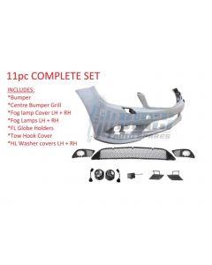 W204 C63 AMG Front Bumper Set 2008-2011 (w/PDC holes) - 5door Hatch