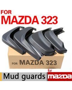 Mudflaps Mazda 323 set of 4 with Screws